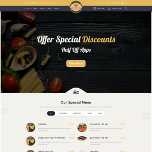 Burger Bar Website Theme